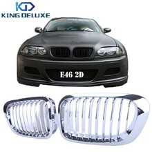 Chrome Front Grille Grill Lattice For BMW E46 2Door 3 Series Coupe Convertible 330Ci 325Ci 328Ci 323Ci 1999-2006 #P46