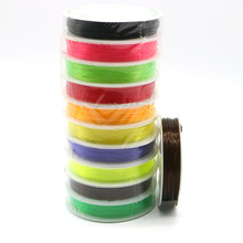 1Roll(about 10M) Nylon Elastic Stretchy Thread 0.8mm White Mixed color Cord Strand For Crafts DIY & Bracelet Jewellery Making