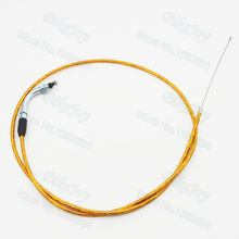 Gold 1300mm Gas Throttle Cable For 49cc 66cc 80cc Motorized Bicycle Dirt Push Motor Bike Motocross(China)