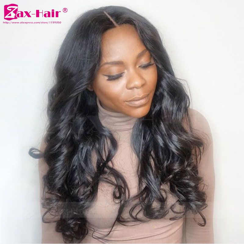 Natural Hair Line Human Hair Lace Front Wigs Unprocess Human Hair Glueless Lace Front Wigs Stocked 7A Virgin Wavy Full Lace Wigs<br><br>Aliexpress