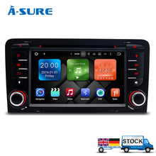 "A-Sure A-Sure7"" Octa 8 Core 64bit 32GB Android 6.0 Car DVD Player 2 din for Audi A3/S3/RS3 (2003-2013) with OBD/3G/WIFI/DAB+/ Ma(Hong Kong)"