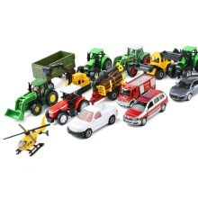 siku 1:64 Alloy car model kids toys Variety tractor Can be linked to wooden box car Engineering vehicles school bus Sports car(China)