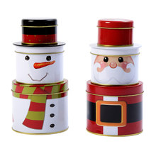 Snowman Candy Box Christmas Santa Claus Gift Biscuit Iron Case Xmas Party Home Decor 8 LXY9(China)