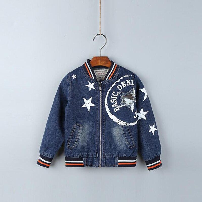 baby boy jacket trolls Jean jacket for girls kinderen Denim jacket for children casaco inverno menino kids spring coat.<br>
