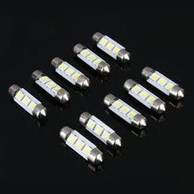 Car-Styling 10PCS 12V Car Light White 36MM 3 LED 5050 SMD Festoon Dome Auto Interior Reading LED Lamp Bulb High Quality(China)