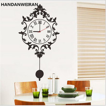 2017 news DIY clock home decorative paper wall stickers for black