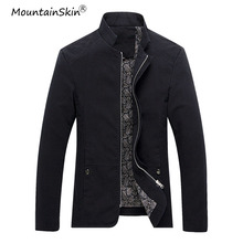 Mountainskin Plus Size Men's Jackets Casual Mens Coats Fashion Slim Fit Male Jacket Solid Men Coat Brand Outerwears 5XL LA501(China)