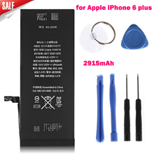 High Capacity Genuine Replacement Lithium Polymer Battery 3.82V 2915mAh for Apple iPhone 6 plus + Tools Batterij Bateria