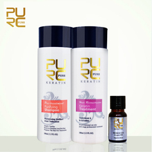 PURC keratin hair straightening brazilian chocolate 5% formaldehyde keratin hair treatment 100ml set free gift 10ml argan oil
