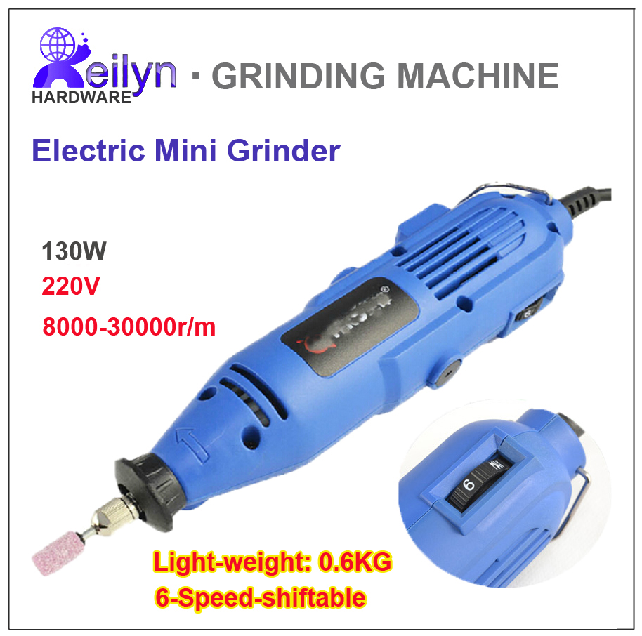 130W 8000-30000r/m 6-speed-shiftable Electric Mini smart Grinder Drill QF180W Drilling Dia 3mm<br><br>Aliexpress