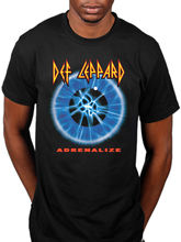 Summer 2017 100% Cotton T Shirts Funny  Short Sleeve Premium O-Neck Def Leppard Adrenalize Tee Shirts For Men