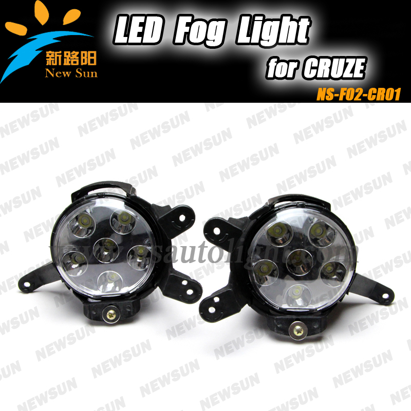 2pcs fog lights car led light white yellow color 18w round led fog lamp replacement kits for Chevrolet Cruze fog lamps<br><br>Aliexpress