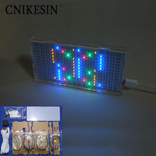 CNIKESIN AS1216 Crystal Castles LED Music spectrum display Level indicator light DIY electronic production Light cube kit