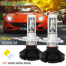 Dream Chaser CREE CSP Chips Hi-Lo Beam H4 LED Headlight Kits Far & Near Driving Lighting Car Bulbs Head Lamp 3000K 6000K 8000k