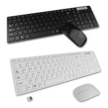 1 set 2.4g bianco pc wireless keyboard + mouse keypad film kit set per desktop pc laptop spedizione gratuita Brand New(China)