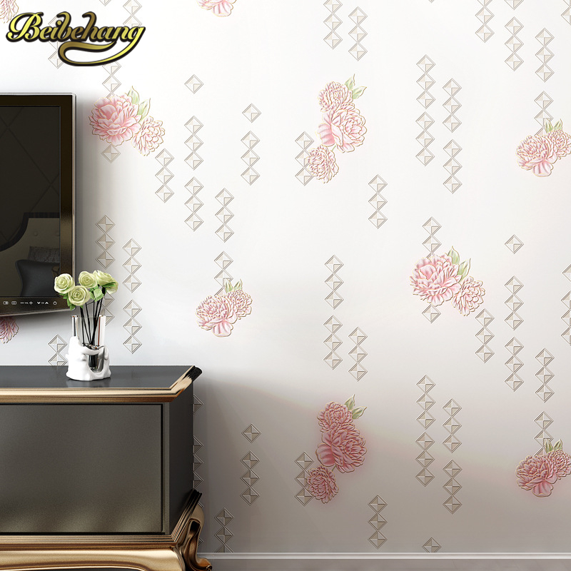 beibehang Stereo relief flowers papel de parede 3D wallpaper for walls 3 d Wallpaper Roll For living room Wall paper covering<br>
