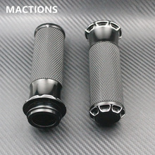 "Motorcycle Grips Black Edge Cut 1"" For Harley Handle Grips Electronic Model Motocycle Accessories Aluminum(China)"