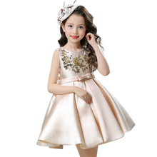 Girl Dress Children Clothing Wedding Party Girls Dresses first birthday Clothes Newborn Princess Infant Dress Girl Red champagne
