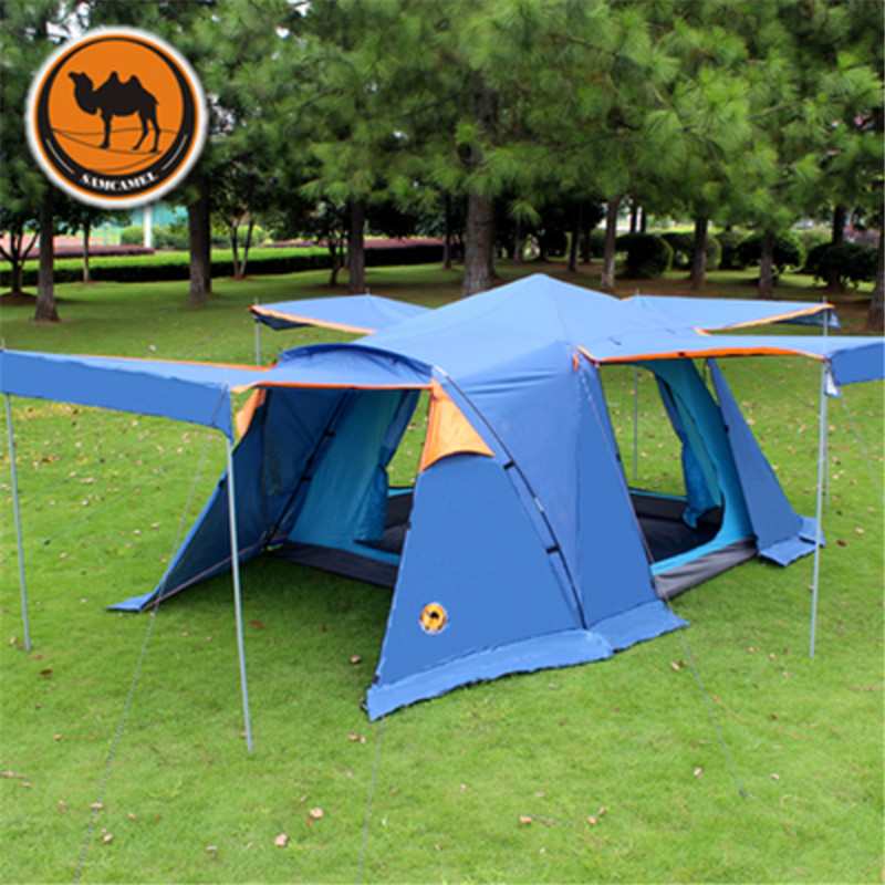 Camel-Outdoor-Tent-3-4-People-Double-Anti-rain-Waterproof-Camping-tent-with-Skirt-4-doors (1)