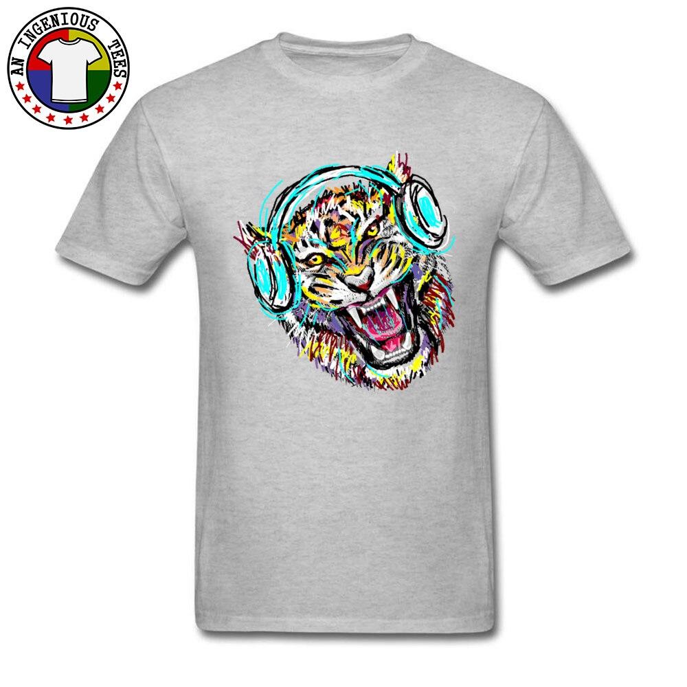 2018 Men T Shirt Cool Wild Music Printed On T-Shirt 100% Cotton Short Sleeve Print T Shirt Crew Neck Wholesale Cool Wild Music grey