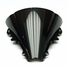 Smoke & Clear Motorcycle Windshield WindScreen For YZF R6 YZF-R6 2006-2007  Double Bubble ABS