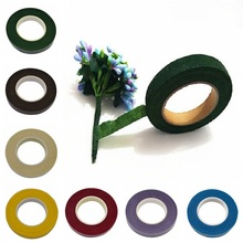 1pc DIY Paper Craft Artificial Flower Wrapping Tapes 30 Yard 12mm Self-adhesive Paper Tape Flower Stem Garland Wreaths Supplies(China)