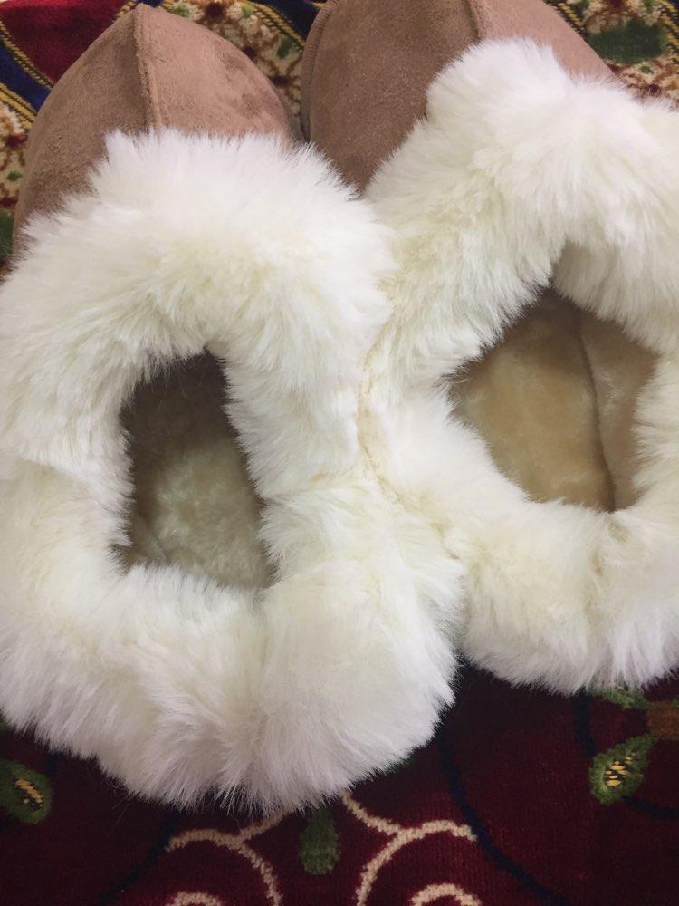 Valge karvaga ääristatud soojad sussid