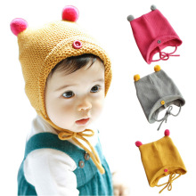 2016 New Kids Winter Cap Lovely Infant Toddler Beanies Soft Crochet Hat For Baby Girls Boys Christmas Halloween Hats Gifts