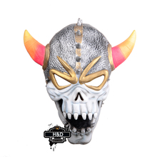 Terror Halloween Horn Skull Devil Mask Latex Ghost Masquerade for Adult Halloween Props Costume Fancy Dress Horror Party Mask(China)