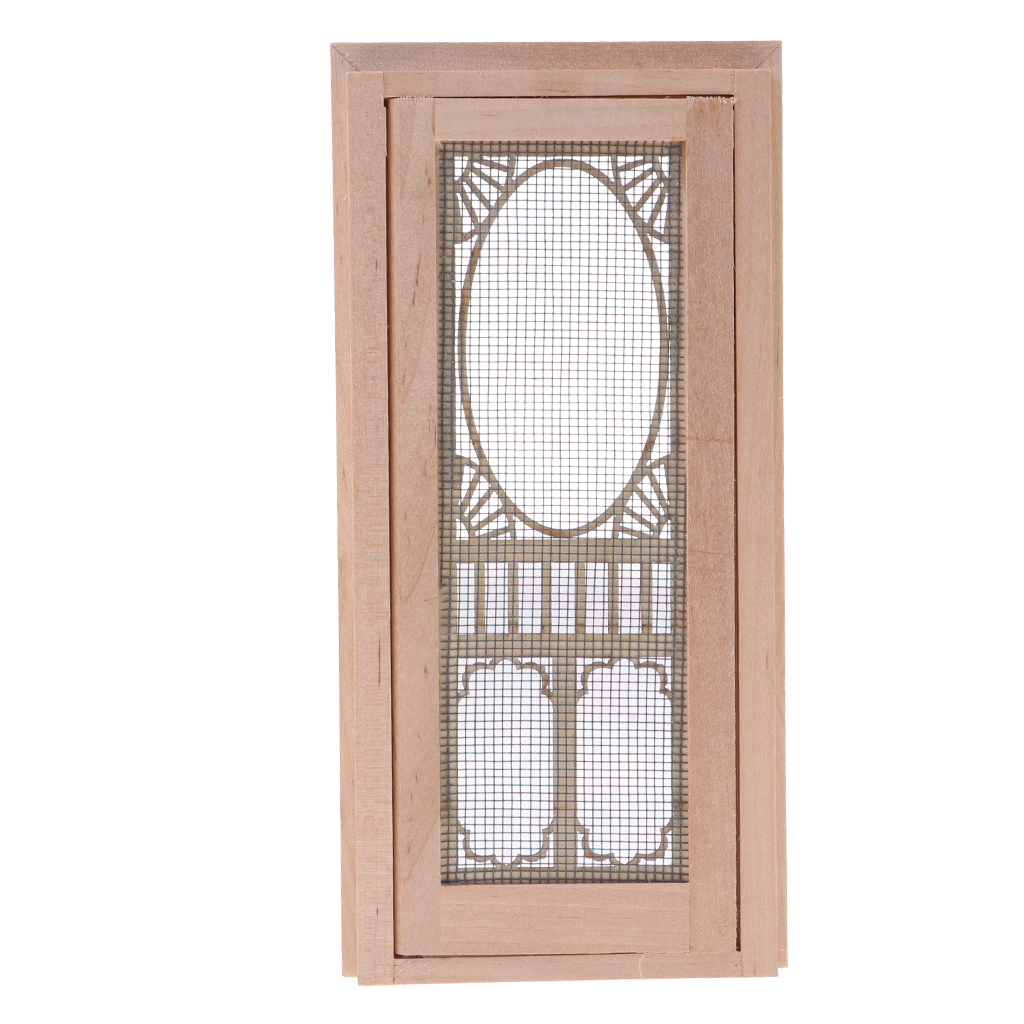 4pcs Unpainted 1//12 Movable 2-Pane Sash Window Frame for Dolls House Garden
