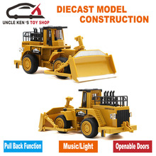 Simulation Diecast Caterpillar Metal Bulldozer Model, Mini Wheel Loader, Toy Tractors, Cars With Box/Functions/Music/Light(China)