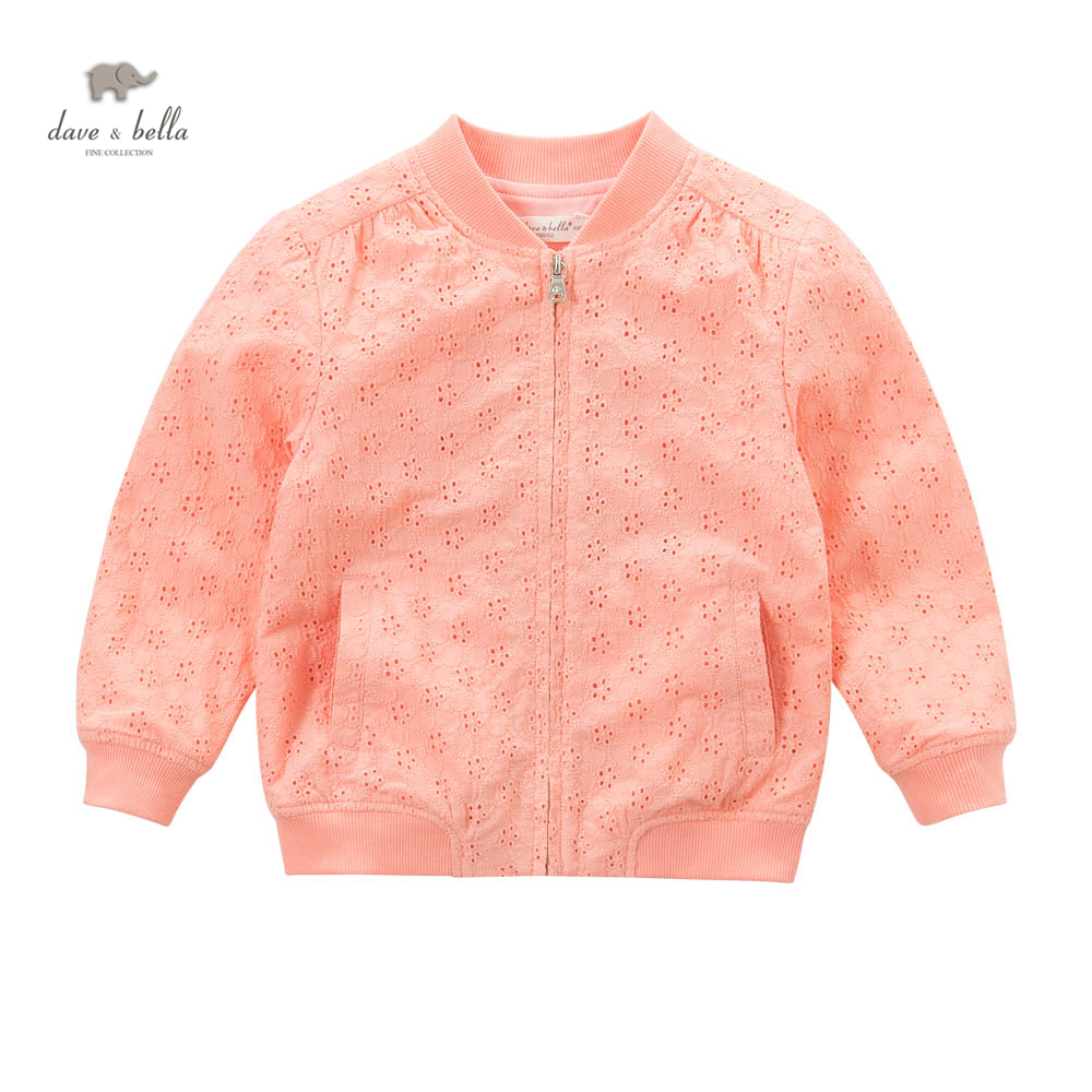 DK0575 dave bella spring girls hollow  embroidered new coats<br>