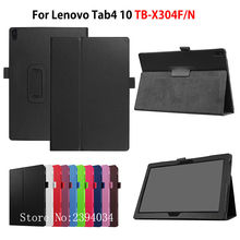 "Buy Case Lenovo TAB4 Tab 4 10 TB-X304L TB-X304F TB-X304N 10.1"" Smart Cover Funda Tablet Stand PU Leather Protective Skin Shell for $8.03 in AliExpress store"