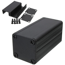 New Extruded Aluminum Enclosure Case Black DIY Electronic Project Box 50x25x25mm