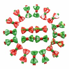 2pcs/lot Cute Girls Baby Ribbon Bow Hair Clip Kids Bowknot Hairpin Children Hair Accessories Boutique Christmas Ornaments(China)