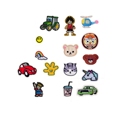 Fashion kids Rainbow Cat Owl Unicorn Boy Patches Iron On Or Sew Fabric Sticker For Clothes Badge Embroidered Appliques DIY