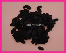 1000PCS 9mm*17mm  Black mini oval felt pads for hair clips,felt applique, non-woven pads,DIY Hairbands accessories