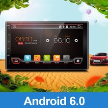 Universal 2 Din Android 6.0 Full Touch Car Pc Tablet Double Audio 7 Gps Navi Car Stereo Radio No Dvd Mp3 Player Bt Stereo 4(China)