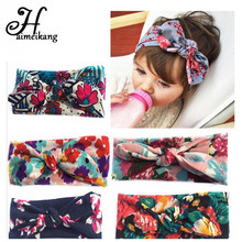 haimeikang Bohemia Floral Elastic  Hair Ties Headband Kind Baby Children Turbante Hair Accessories Bandage on a Head for Girls