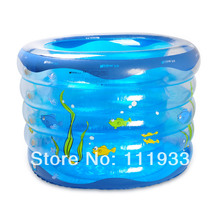 Imported Quality PVC-made 5-Rings Inflatable Round topping-up thickening baby swimming pool/baby paddling pool in GREEN & BLUE(China)
