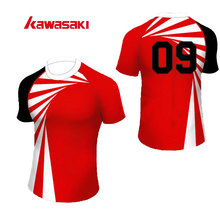 Kawasaki Original Brand  Men& Women Rugby jersey Top Custom Plus Size 4XL Polyester Train Practice Sporst Rugby Top Shirt