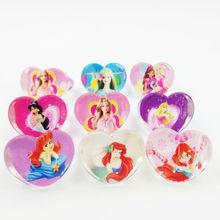 Wholesale Mixed Lots 20Pcs Anime Rapunzel Cute Cartoon Children/Kids Snow White Baby Rings Birthday Party Gift