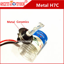 2X fast bright hid H7C Metal holder Base Short tube HID Xenon Bulb 12V 35W H7C Xenon Lamp Headlight special H7C metal hid H7 C