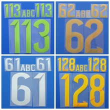 High quality Name number name letter DIY custom basketball football font print ,heating stamping Soccer patches badges