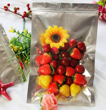 New 7*13cm Translucent Aluminum Foil Bag , Zip Lock Pouch , Dried Fruit Snack Food Packing Bag