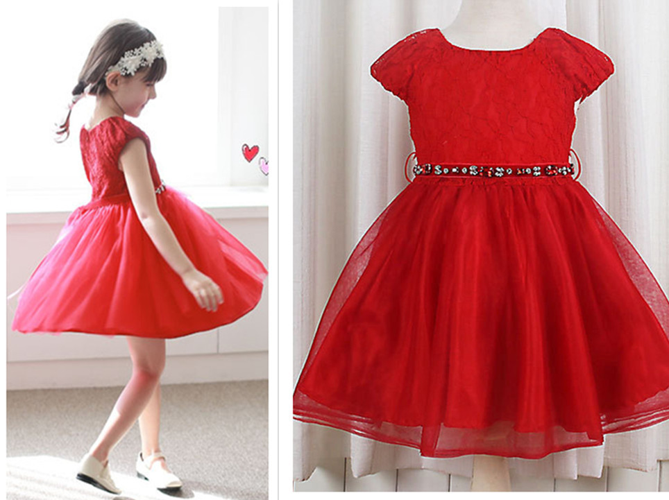 High Quality Kids Red Lace Dresses-Buy Cheap Kids Red Lace Dresses ...