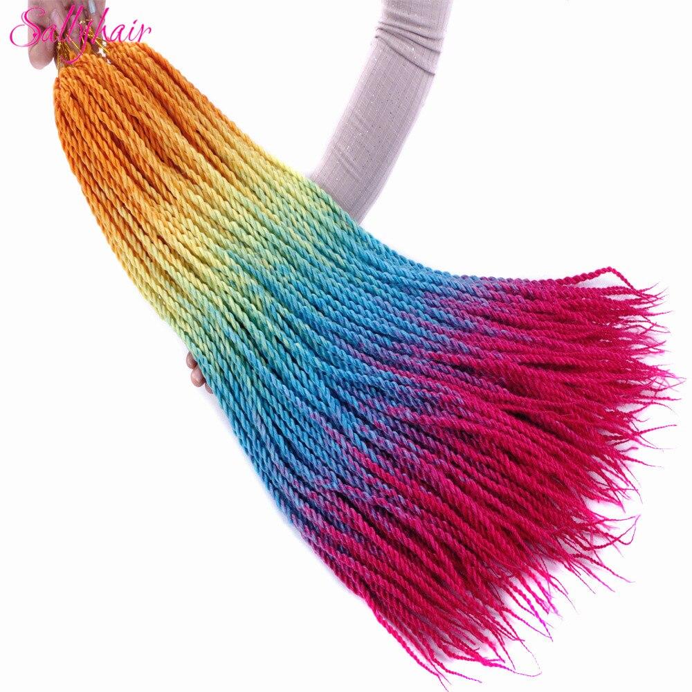 Ombre Color Senegal Twist Braids Crochet Braids Hair Extensions (42)_