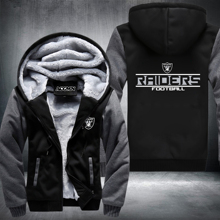 New Titans Footballs Jacket Super Warm Thicken Fleece Zip Up Hoodie Men's Coat Free Shipping USA size plus size best NO.2 Grey