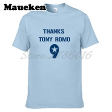 Men Tony Romo #9 Thank you Retirement Inspired America Captain T-shirt Clothes Men's for Dallas fans gift tee W0409001(China)