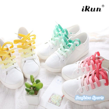 High Quality Tie Dye Gradient Rainbow Print Flat Laces~Amazon/eBay Supplier~Provide UPC Barcode~7 Colors~DHL FREE SHIPPING